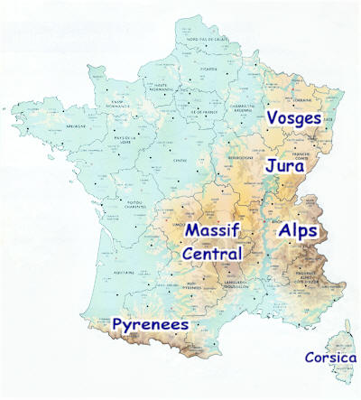 France Ski regions: Alps, Jura, Massif Central, Vosges and Pyrenees, ... winter skiing and fun for everyone.