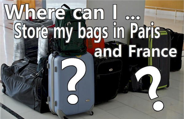 Here are the details to go 'luggage free' or have it stored or transferred in and around Paris. Places, prices and sizes:
