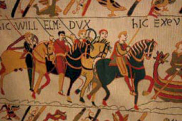 The Bayeux Tapestry which recounts one of William the Conqueror's greatest exploits