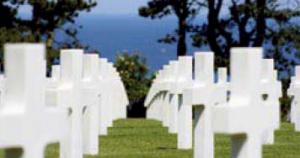 Results of D-Day. About 30 American, British, Canadian, French, German and Polish cemeteries in Normandy