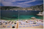 Riviera beach on the Cote d'Azur in France