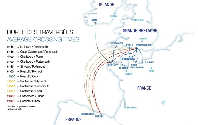 Brittany-Ferries-Routes