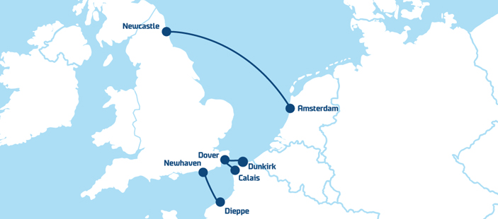 DFDS-ferry-routes