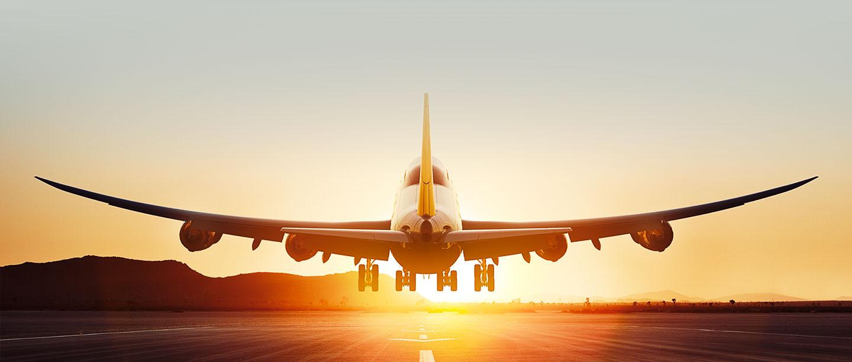 Lufthansa-sunset