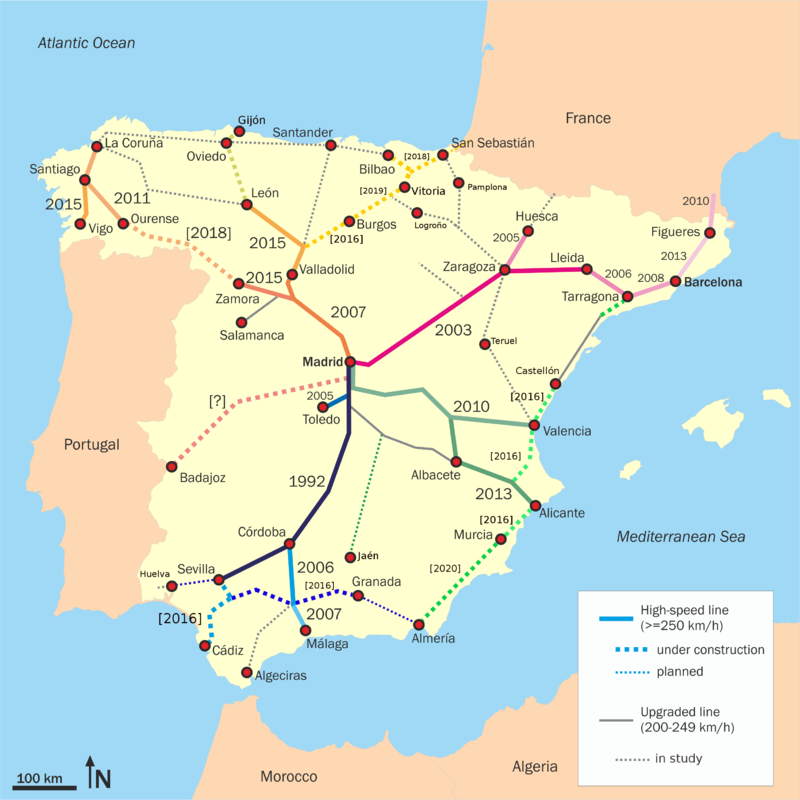 Spain-AVE-train-network