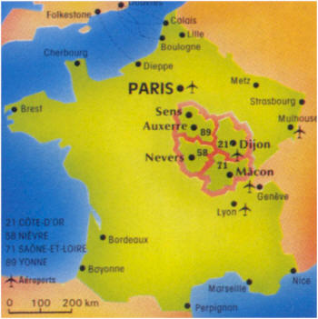 Burgundy is located in the beautiful Rhone region of France.