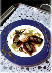 French mushroom and snails dish