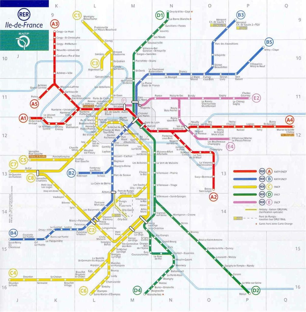 Paris Rer Stations Map Bonjourlafrance Helpful Planning French