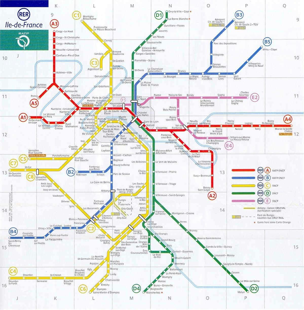 Paris Rer Stations Map Bonjourlafrance Helpful Planning