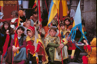 Mediaeval festival at Semur-en-Auxois