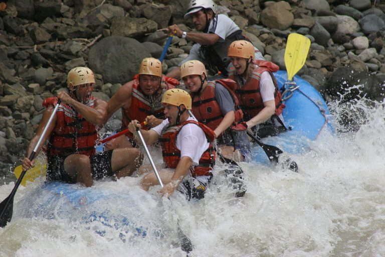 White-water rafting in France. Thrills for all.