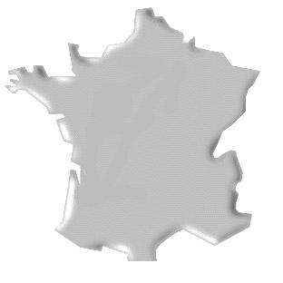 Blank France Map