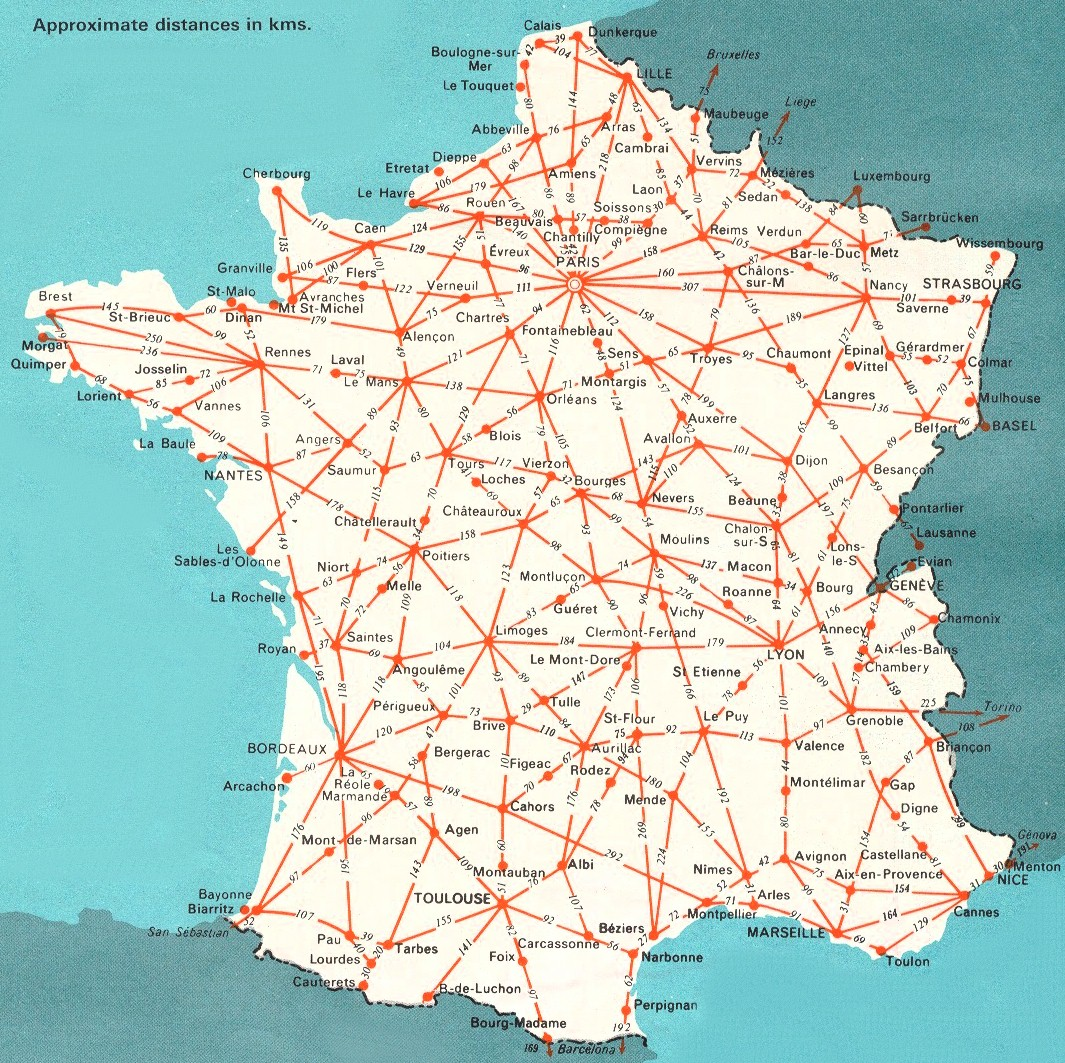 Detailed Road Map Of France.Maps Of France Bonjourlafrance Helpful Planning French Adventure