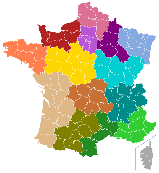 Map Of Regions Of France.Maps Of France Bonjourlafrance Helpful Planning French Adventure