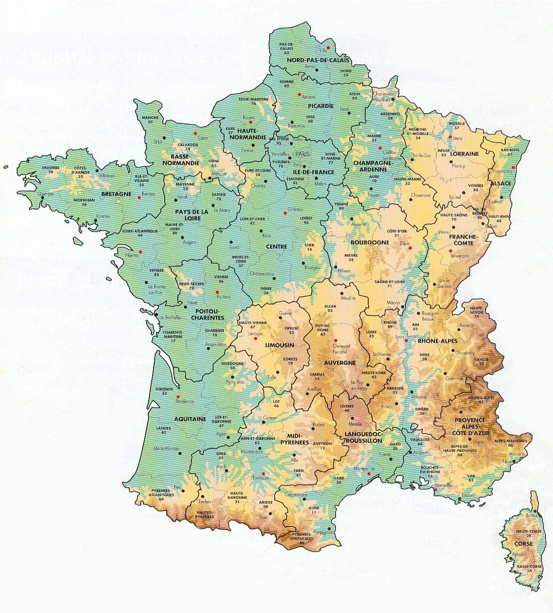 graphic about Printable Map of France named Maps of France - BonjourLaFrance - Productive Creating, French