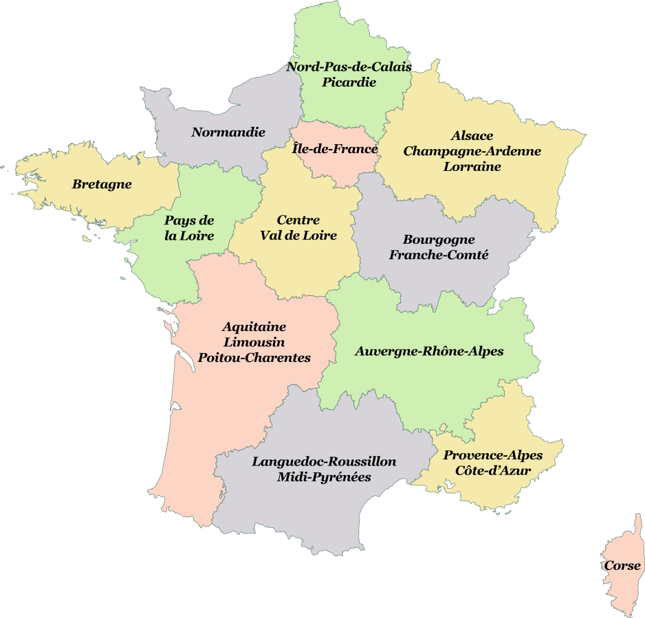 Map Of France New Regions.Maps Of France Bonjourlafrance Helpful Planning French Adventure