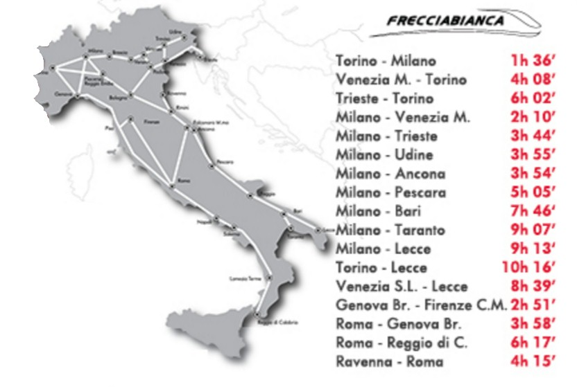Italy-Frecciabianca-train-network