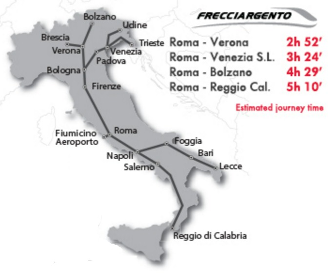 Italy-Frecciargento-train-network