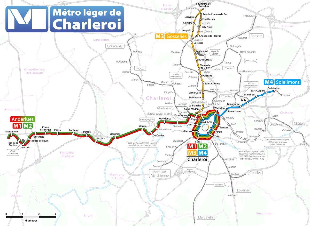 charleroi-metro-network
